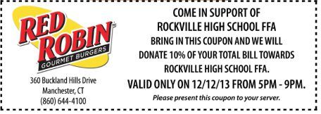 10% Of Your Total Bill  Expires 12/12/2013 http://www.pinterest.com/TakeCoupons/red-robin-coupons/