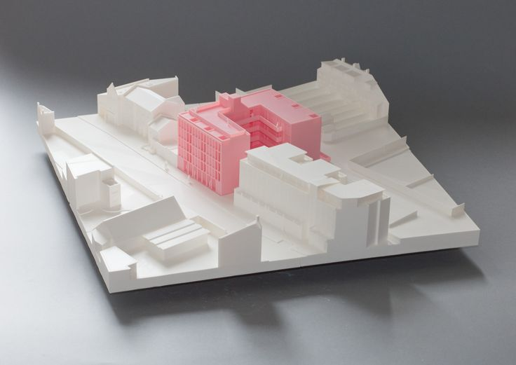 Architecture for London, Loggia Housing model - Our proposed scheme provides 26 homes for private rental with office space at ground floor for start-up companies. The proposed facade draws from the aspirational character of the nearby (now demolished) film studios arched facade. The tight grain and narrow width of the columns borrows directly from the elevation of the film studios building.