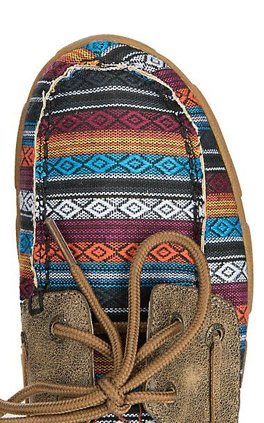 Twisted X Women's Brown & Serape Driving Moccasin Casual Shoes | Cavender's