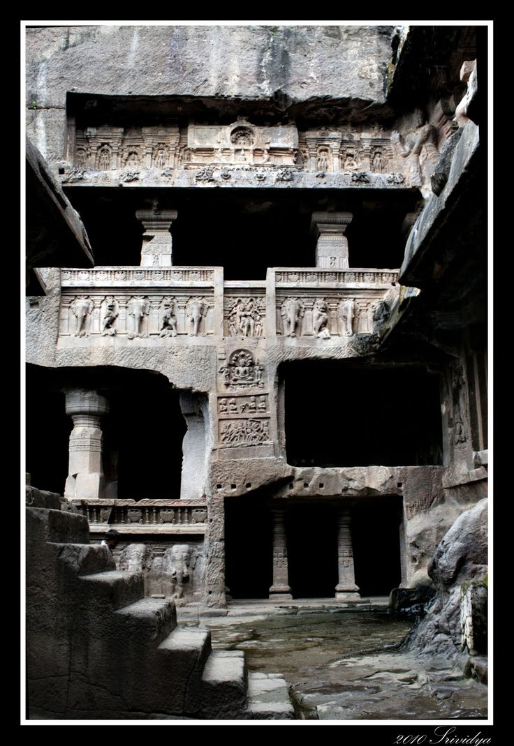 Ellora caves, the impression you get when you explore these caves is that the sculptors were finding space, exploring space, in the rock. They were not sculpting rock, they were sculpting space..