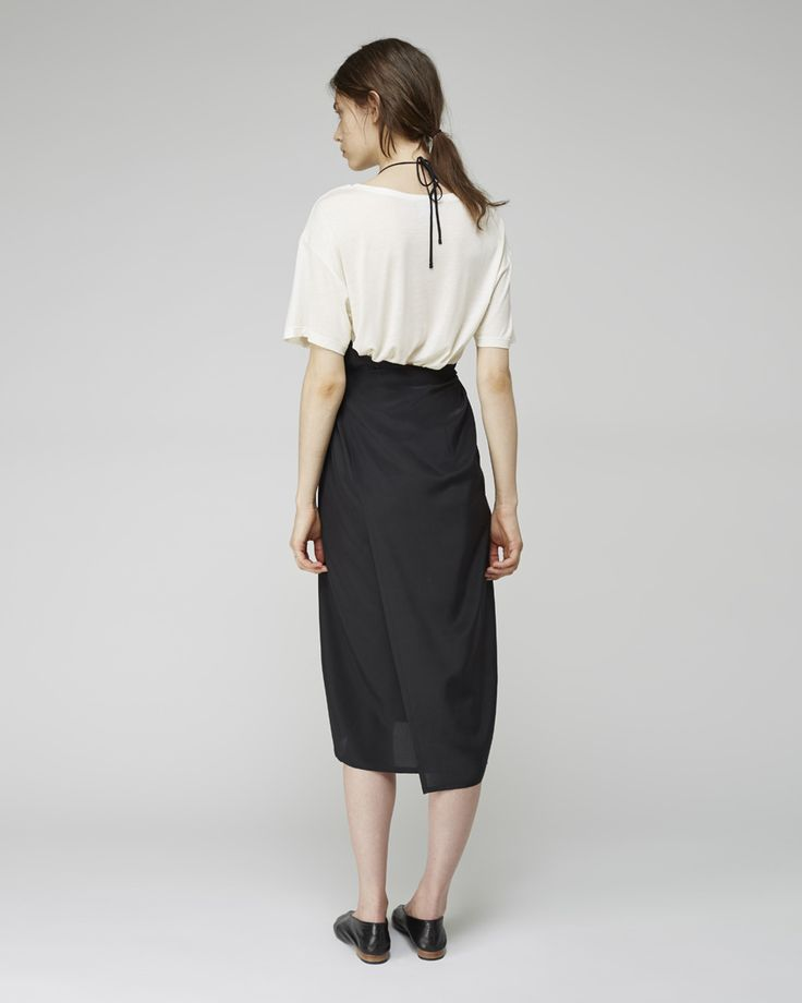 BASE Range / Silk Charmeuse Apron Dress, BASE Range / Loose Tee