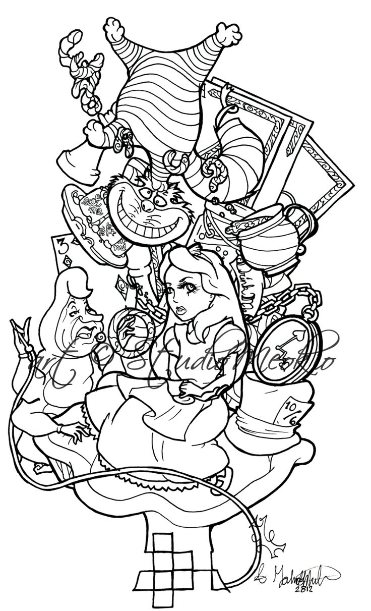 Tattoo Flash Line Drawing Converter : Alice im wunderland google suche fiona