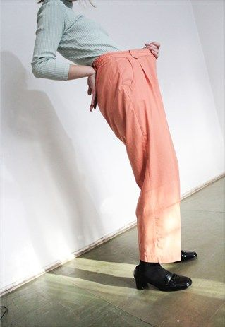 Vintage+Salmon+Trousers