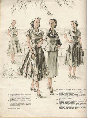 Старые журналы: Мода 50-ых годов.. - История моды - Мода и стили - Каталог статей - ЛИНИИ ЖИЗНИ