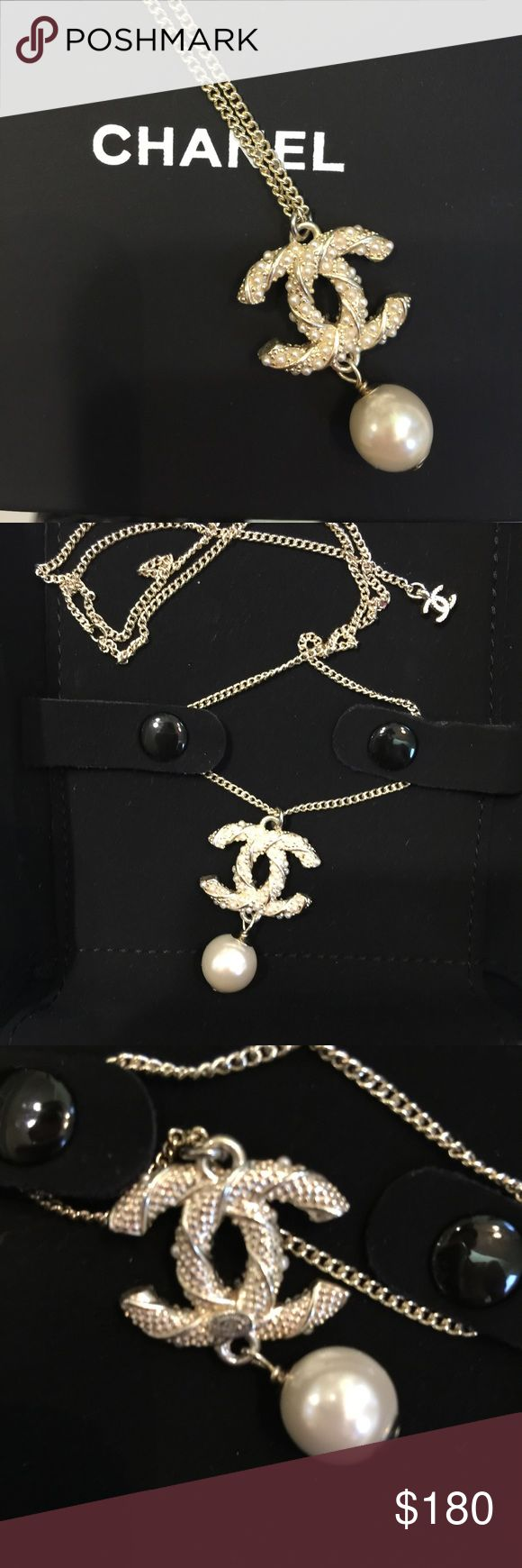 Beautiful Chanel necklace in light gold Stamped on the back. High quality. Price reflects everything so kindly don't ask the obvious. Comes with a box. CHANEL Jewelry Necklaces