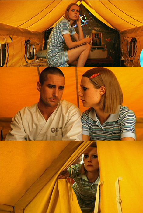 The Royal Tenenbaums (2001) - Gwyneth Paltrow as Margot Tenenbaum and Luke Wilson as Richie Tenenbaum, directed by Wes Anderson, written by Wes Anderson and Owen Wilson
