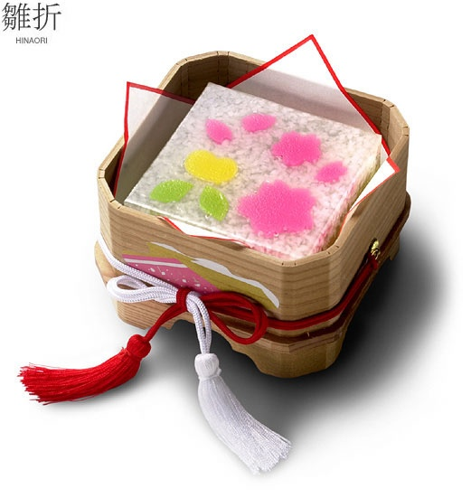 Wagashi for Hina-matsuri (Japanese Girls' Day) by Toraya