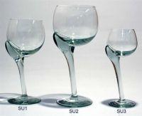 Curvy wine glasses, by Ngwenya glass, Swaziland