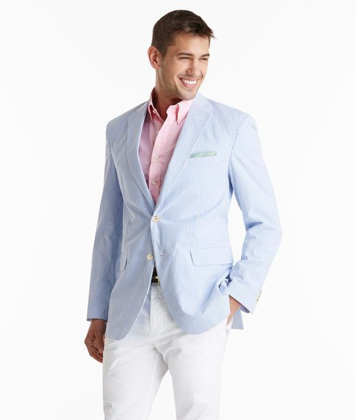 Something as simple as teaming a seersucker blazer with white chinos can  potentially set you apart