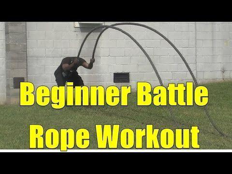Beginner Battle Rope Workout - YouTube