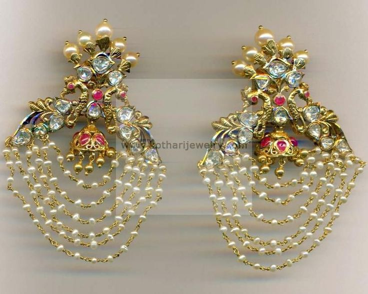 Earrings / Jhumkis / Chandbali - Gold Jewellery Earrings / Jhumkis / Chandbali (ERJS6889) at USD 2,138.72 And GBP 1,631.32