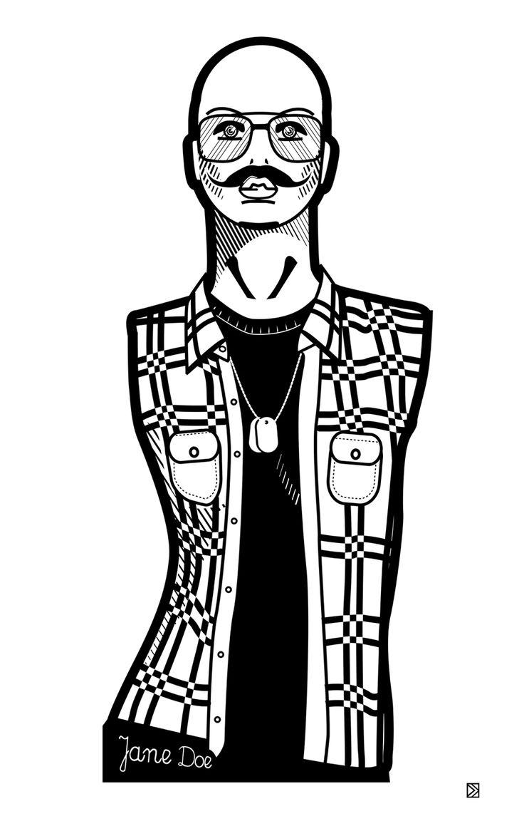 Jane Doe by Dorota Kraft http://www.lumarte.eu/en/dorota-kraft/06-w585 #dorotakraft #janedoe #graphics #illustration #fineart #digitalart #art #lumarteartonline #lumarte #giclee #fineartprint #identity #gender #feminism