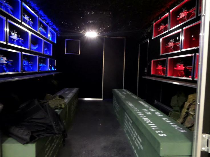 Inside The Laser Tag Trailer, The Recruits Will Put On Their Camouflage  Face Paint,
