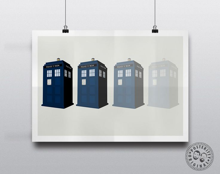 #minimalist #poster #posteritty #fanart #whovian #drwho #doctorwhol #tardis #disappear