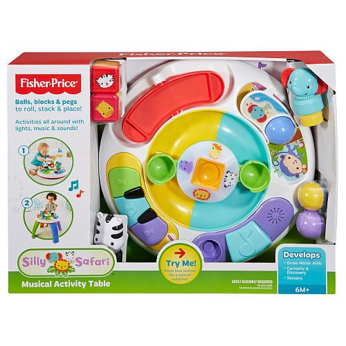 """Fisher-Price Silly Safari Musical Activity Table -  Fisher-Price - Toys""""R""""Us"""