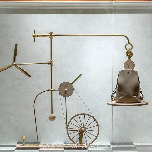 "HERMES, London, UK, ""I thought of this while riding my bicycle"", pinned by Ton van der Veer"