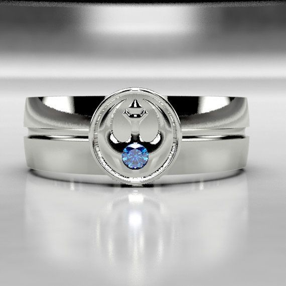 Legend Of Zelda Tribute Blue Diamond Wedding Ring Band In Gold Or Palladium Size 10 8 Mens