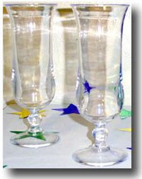 Clear Plastic Hurricane Glasses