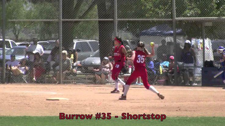 Emily Burrow Shortstop Fielding Ball & Throwing Out Vs