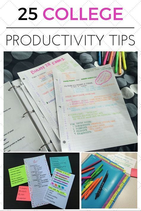 25 College Productivity Tips + FREE Printable 25 C…