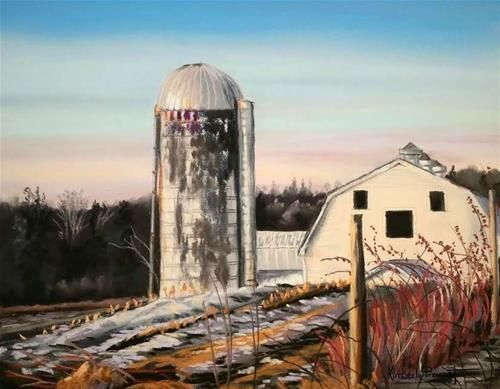 """Daily Paintworks - """"The Last Resort Farm"""" - Original Fine Art for Sale - © Kimberly Provost"""