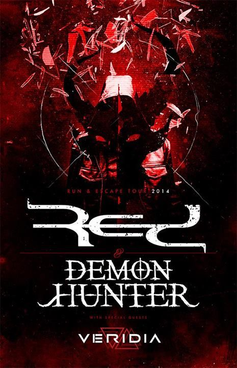 "NEWS: The alternative rock band, Red, have announced the ""Run and Escape Tour"" with support from Demon Hunter and Veridia. You can check out the details at http://digtb.us/runandescape"