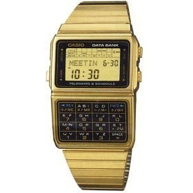 Gold calculator watch