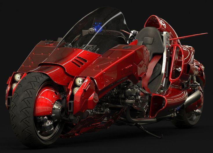 Cyberpunk images futuristic motorcycle akira concept
