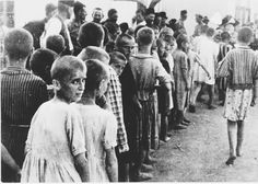 holocaust pictures   Bearing Witness to the Holocaust: Children Lined up with Heads Shaved ...