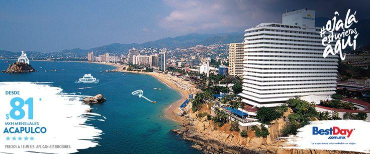 Es un lujoso hotel familiar en #Acapulco, se encuentra construido a las orillas de la playa y vista a la bahía. Tiene una especialidad en cocina italiana e internacional,  además de ofrecerte exquisitos antojitos  y frescos mariscos. Acceso a internet inalámbrico gratuito, servicio médico en caso de accidentes, personal multilingüe, área para niños y club de spa, son algunos de sus servicios que te presentamos, no lo dudes más y visita el Hotel Fiesta Americana.  #OjalaEstuvierasAqui…