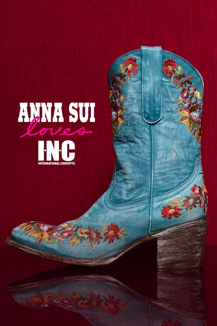 Florals are a huge trend for fall, on shirts, jackets, jeans, and even boots. We love this Western-style pair of boots with wildflower embroidery.
