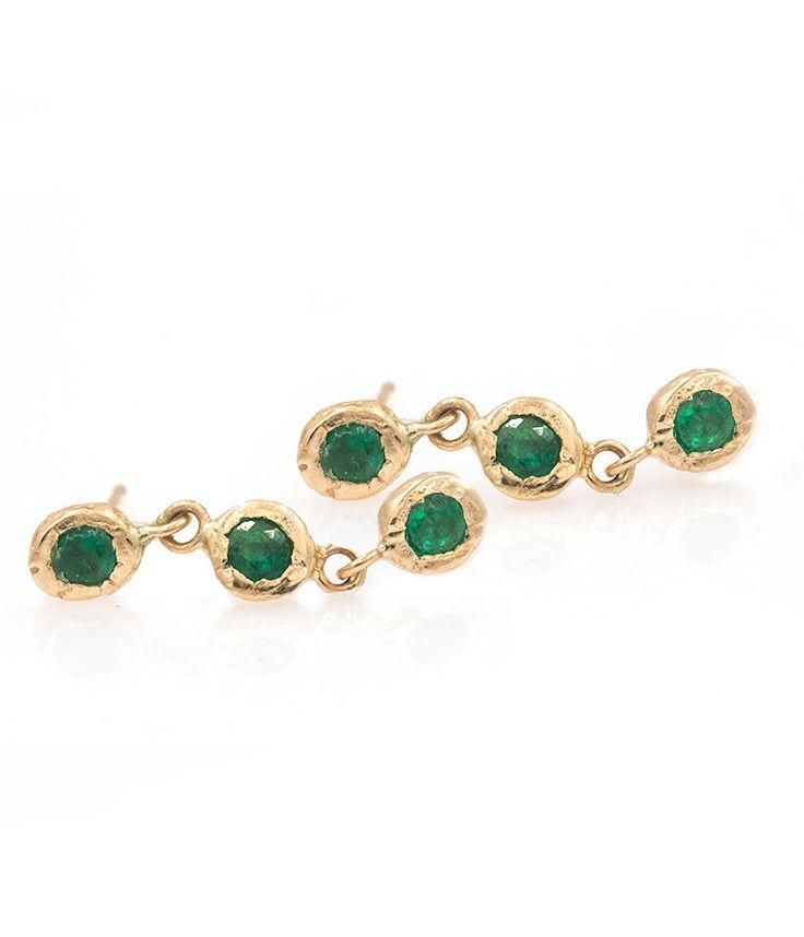 Trinity Emerald Studs