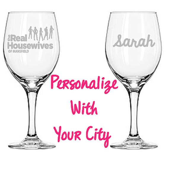 Personalized Wine Glass Real Housewives Wine by TheBlastedBoutique