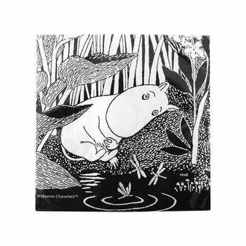 Moomin Sleeping Black Napkins - Click to enlarge