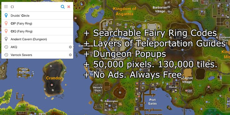 An Oldschool Runescape Interactive World Map with features like - new osrs world map in game