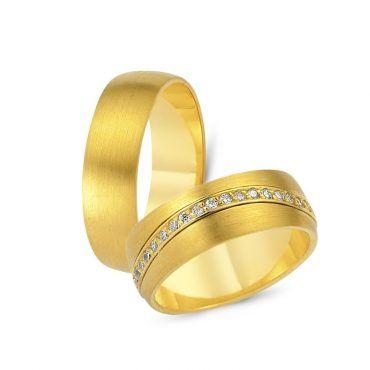 Πλατιές και εντυπωσιακές ματ βέρες γάμου CHRILIA 54 - Κλασική ανδρική βέρα, γυναικεία παραλλαγή με καμπυλωτό σειρέ από διαμάντια ή ζιργκόν   ΤΣΑΛΔΑΡΗΣ #βερες #γάμου #wedding #rings