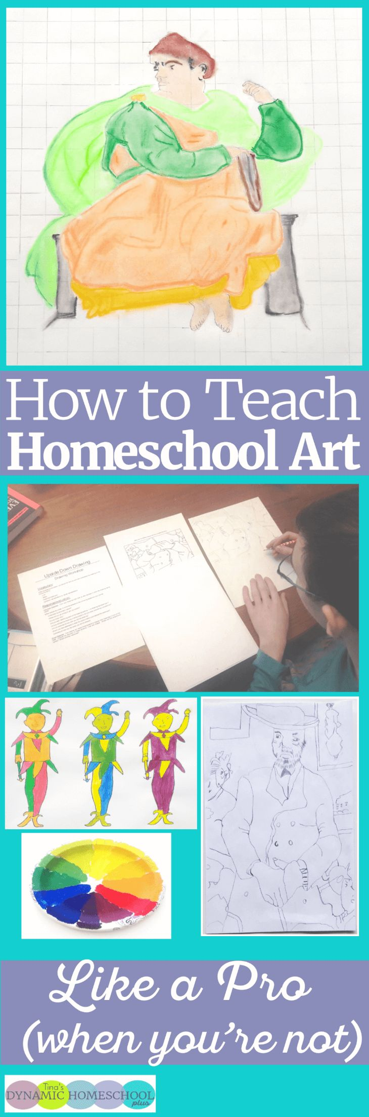 How To Teach Homeschool Art Like a Pro (When You're Not).Teaching homeschool art use to be a subject that intimidated me. I didn't give up trying to teach it because I feel so much emphasis is always give on academics and not enough time to power up a child's creativity. Look at easy it can be to teach homeschool art. Click here to read the tips! via @tinashomeschool