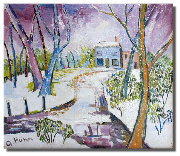 George Hann painting