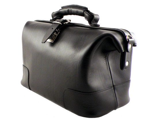 Leather Medicine  Large Doctor Bag Medical bag by CovoyLeather
