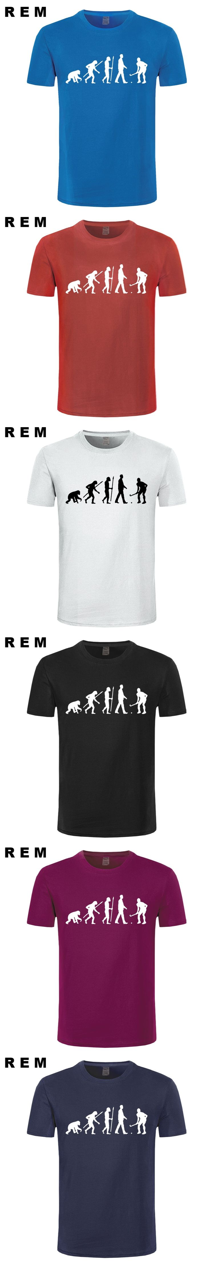 REM casual popular Evolution Field Hockeyer Men's T-Shirt 100% cotton male tops tee hot sell fashion O-Neck T Shirt