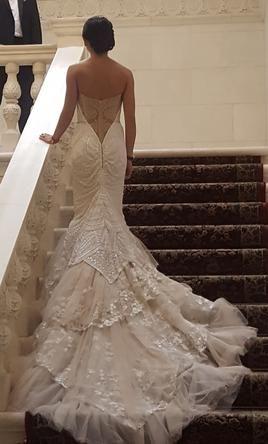Elegant Inbal Dror wedding dress currently for sale at off retail