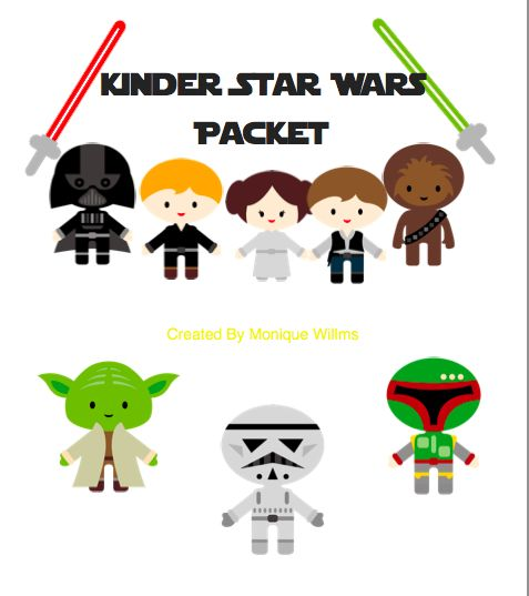 Pocket Full of Whimsy: Star Wars Kindergarten Unit - Free Download!