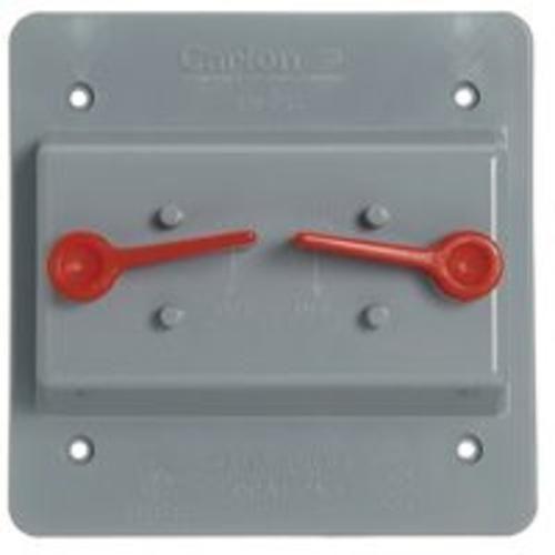 Carlon E9G2SSNR Double Toggle Switch, Grey