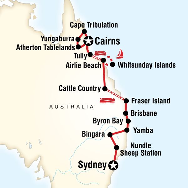 East Coast Encompassed–Sydney to Cairns