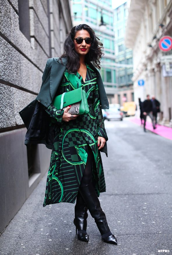 Nausheen Shahand At Milan Fashion Week F W 2014 15 Fab Street Style Pinterest Inspiration