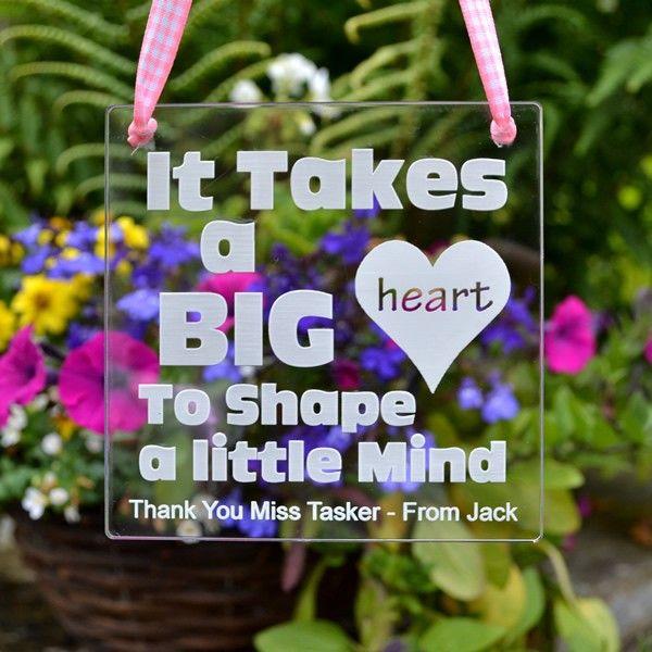 It Takes A Big Heart To Shape A Little Mind Gift Nursery Primary School Teacher