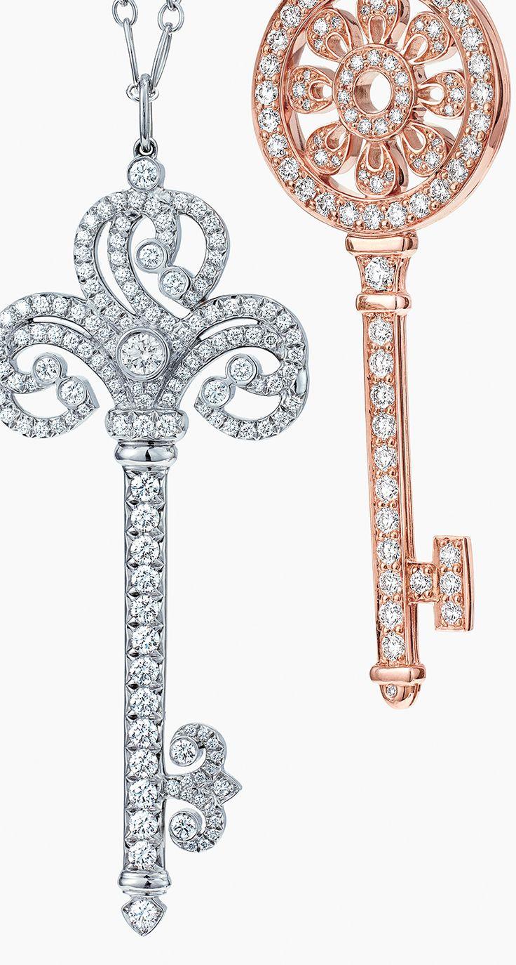 Unlock hearts this holiday season with dazzling diamond key pendants from the Tiffany Keys collection.