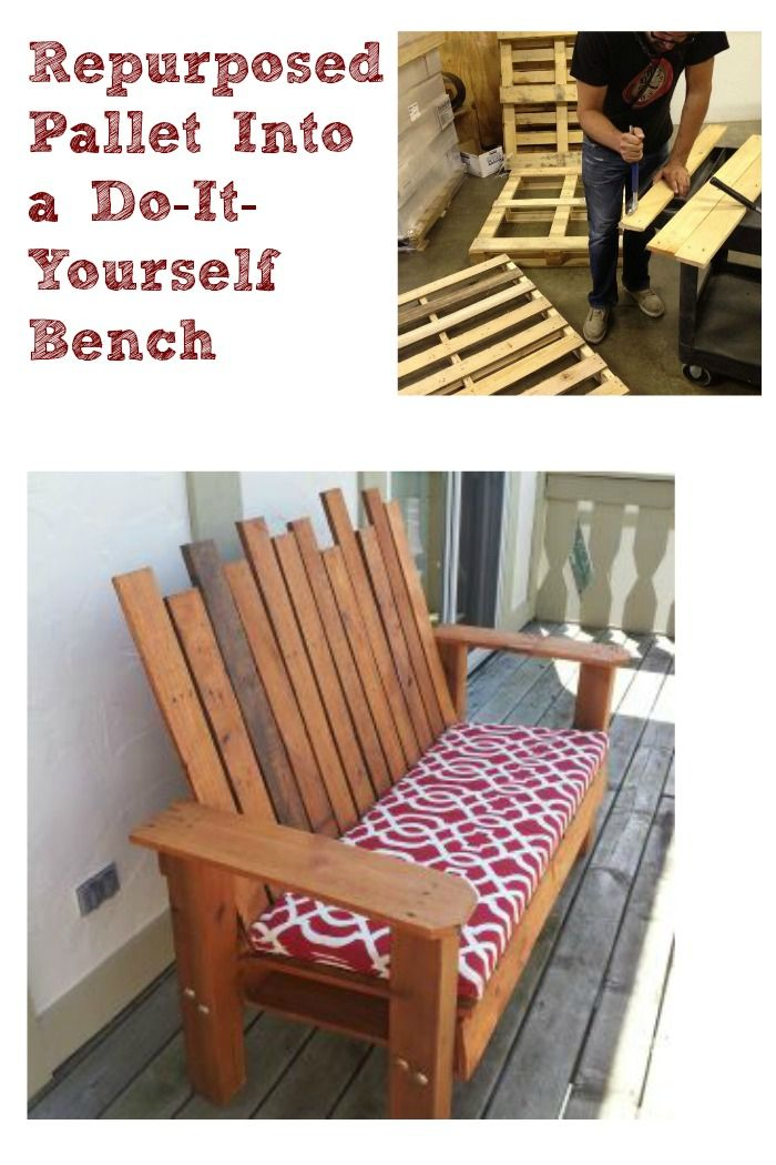 Repurposed Pallet Into a Do-It-Yourself Bench | Upcycling ...