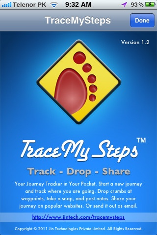 journey tracking app iphone