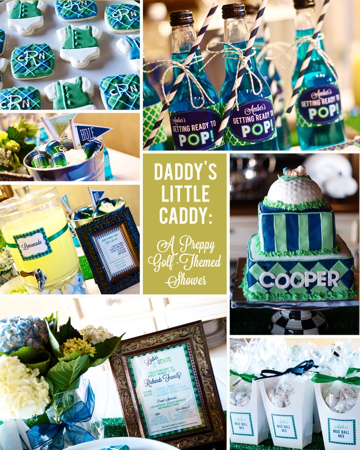 Daddy's Little Caddy: A Preppy Golf-Themed Baby Shower | Heather Carpenter Photography